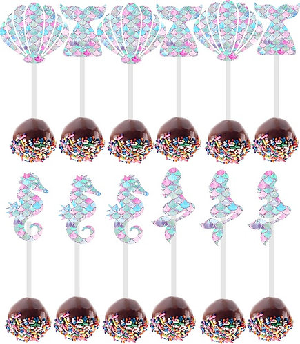 Mermaid Cakepops Toppers - 12 pcs set