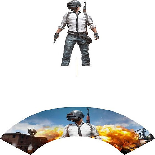 PUBG Game Character Cupcakes Toppers or Wrappers -12 or 24pcs