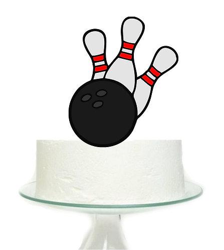 Bowling Big Topper for Cake - 1 pcs set