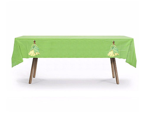 Tiana Princess and the Frog Plastic Table Cover with Stickers - 140 cm x 275cm