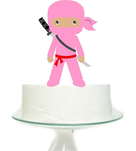 Ninja Girl Big Topper for Cake - sets 1 pcs set