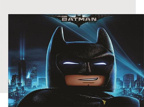Batman Lego Invitations - 6pcs party invites