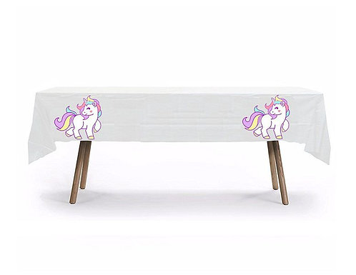 Unicorn Body Plastic Table Cover with Stickers - 140 cm x 275cm