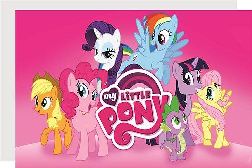 My Little Pony Invitations - 6pcs party invites