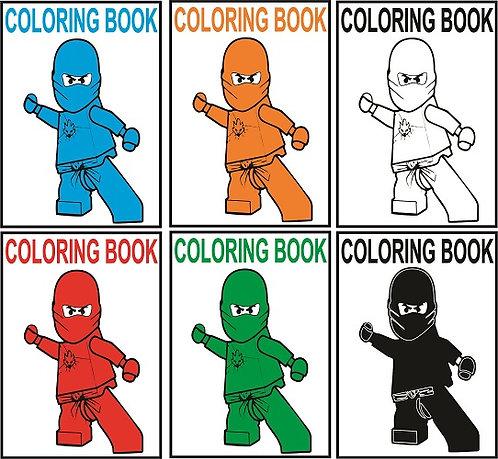 Ninjago Lego Small Coloring Book