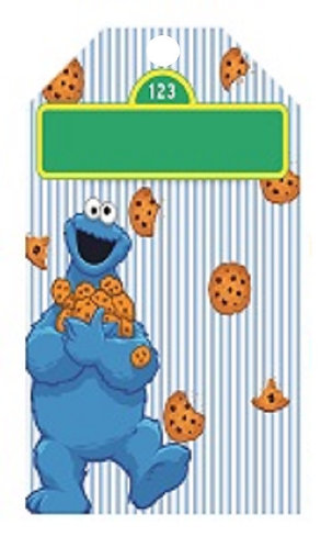 Sesame Street Cookie Monster Gifts Tags - 12 pcs set