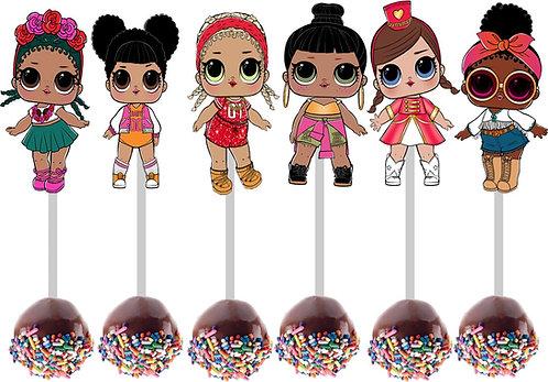 LOL Surprise Dolls Cakepops Toppers - 12 pcs set
