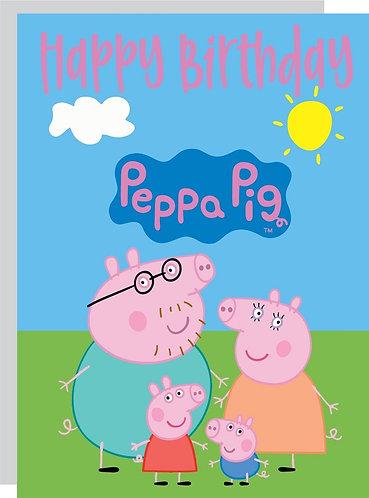 Peppa Pig HAPPY BIRTHDAY Congratulation Card