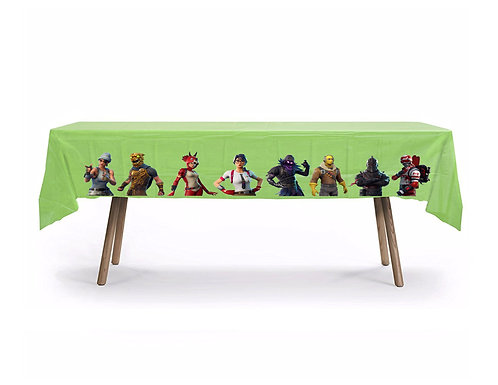 Fortnite Characters Plastic Table Cover with Stickers - 140 cm x 275 cm