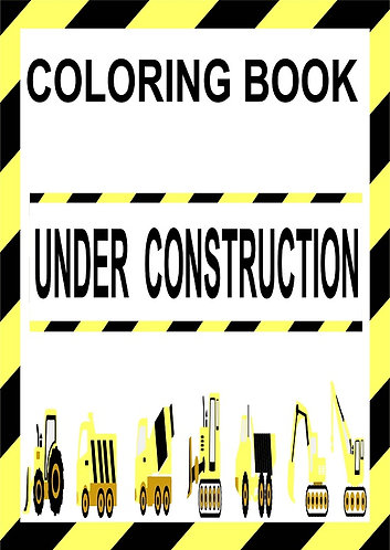 Under Construction Small Coloring Book
