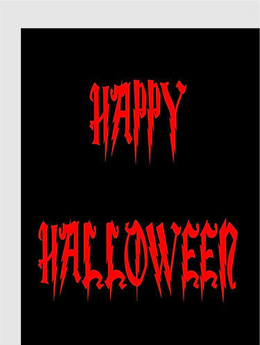 HAPPY HALLOWEEN Congratulation Card