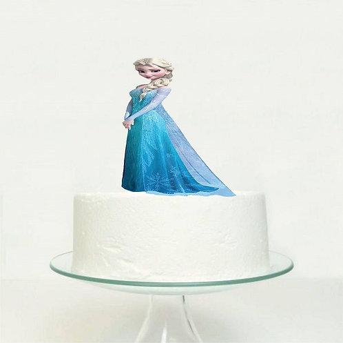 Princess Elsa Frozen Big Topper for Cake - 1pcs set