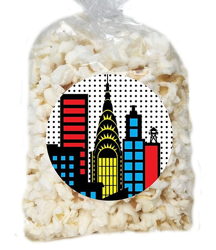 Superheroes Giveaways Clear Bags for Popcorn or Candies - 12 pcs set