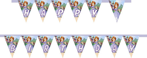 Princess Sofia the First HAPPY BIRTHDAY Banner