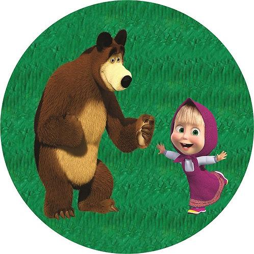 Masha and the Bear Birthday Party Pull Strings Pinata - 35 cm