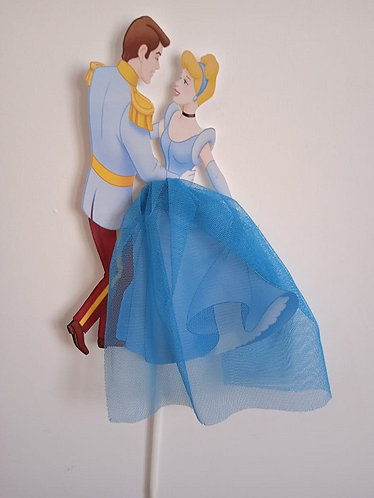 Prince & Princess Cinderella Big Topper for Cake - 1 pcs set
