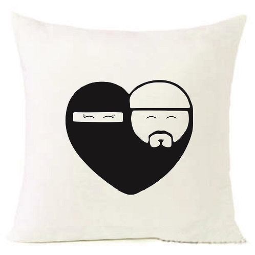 Valentines Day Islamic Muslim Love Cushion Decorative Pillow - 40cm
