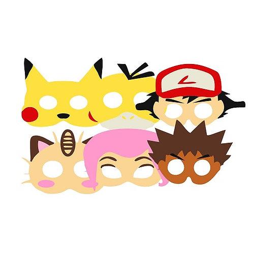 Pokemon Party Masks - 6 pcs or 12 pcs