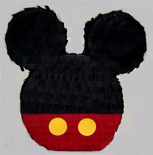 Mickey Head Party Pull Strings Pinata - 40cm