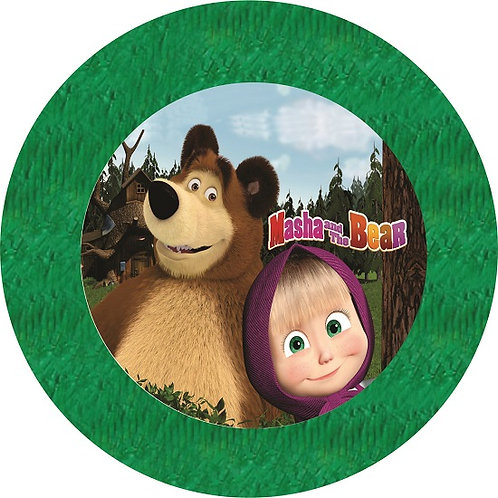 Masha and the Bear Birthday Party Pull Strings Pinata - 35 cm