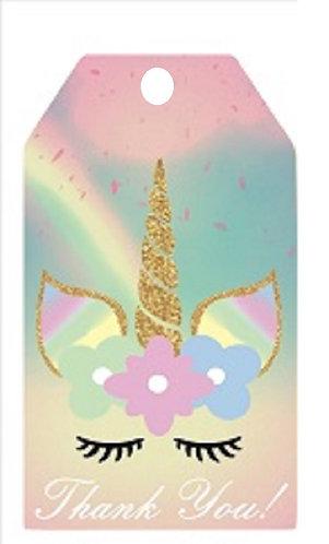 Unicorn Gifts Tags - 12 pcs set