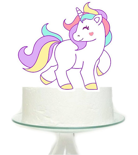 Unicorn horse Big Topper for Cake - 1 pcs set