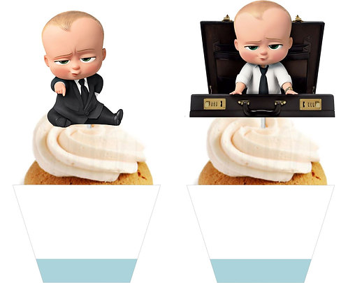 Boss Baby Cupcakes Toppers or Wrappers -12 or 24pcs