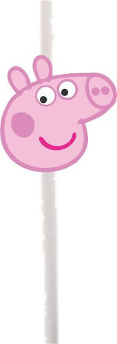 Peppa Pig Head Cakepops Toppers - 12 pcs set