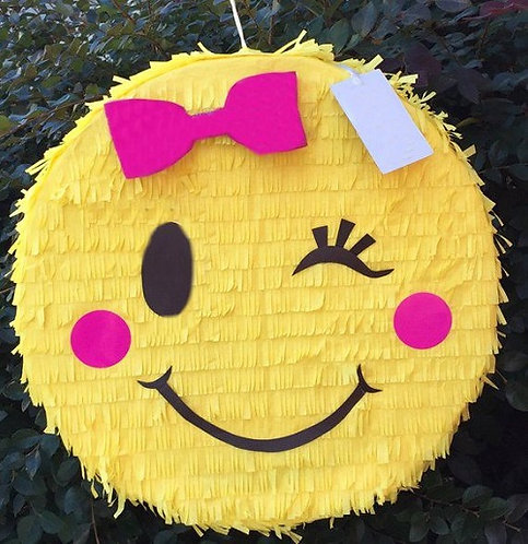 Emoji Smile Birthday Party Pull Strings Pinata -35cm