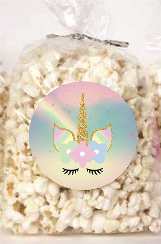 Unicorn Giveaways Clear Bags for Popcorn or Candies - 12 pcs set