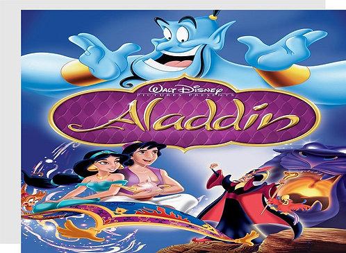 Jasmin Aladdin Invitations - 12 pcs party invites