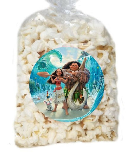 Moana Giveaways Clear Bags for Popcorn or Candies - 12