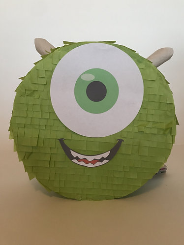 Monsters Inc Green Head Party Pull Strings Pinata - 40cm