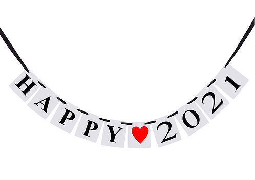 HAPPY  2021  New Year Banner
