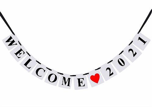 WELCOME 2021  New Year Banner