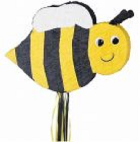 Bee Birthday Party Pull Strings Pinata -40 cm