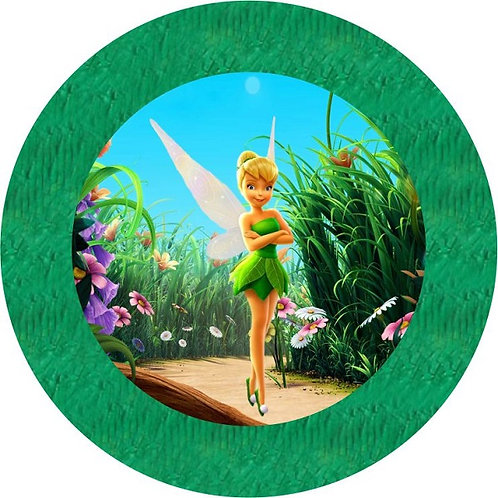 Tinkerbell Birthday Party Pull Strings Pinata Round - 35 cm