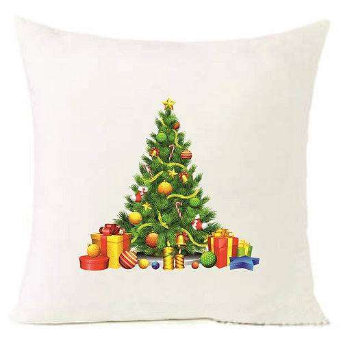 Christmas Tree Gifts Cushion Decorative Pillow COTTON OR LINEN - 40cm