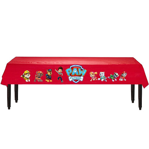 Paw Patrol Plastic Table Cover with Stickers - 140 cm x 275cm