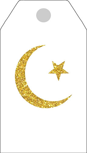 EID Ramadan Gifts Tags - 12 pcs set