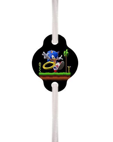 Sonic Game Straws  12 pcs set