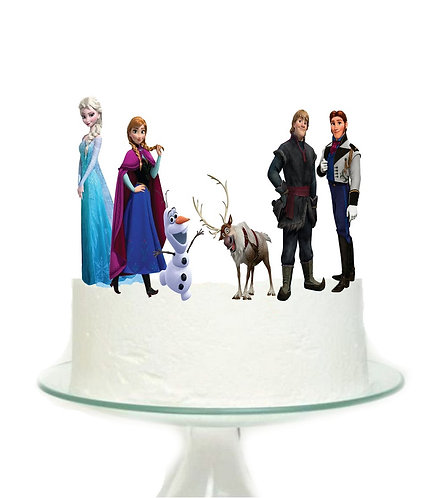 Frozen Characters Big Topper for Cake - 6pcs set