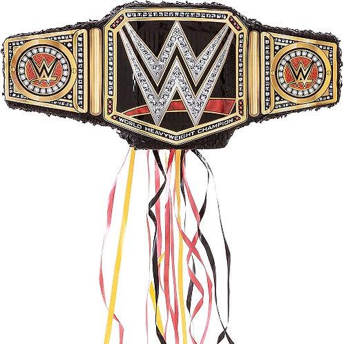 WWE Belt Birthday Party Pull Strings Pinata - 40 cm