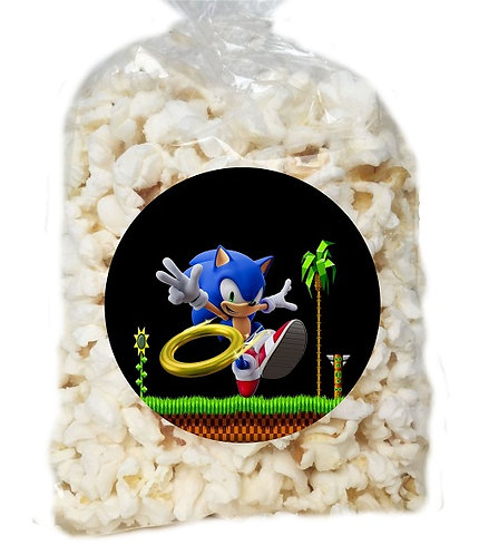 Sonic Game Giveaways Clear Bags for Popcorn or Candies - 12 pcs set