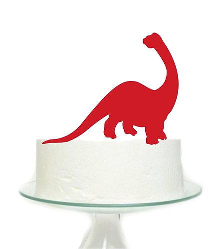 Red Dinosaur Big Topper for Cake - 1 pcs set