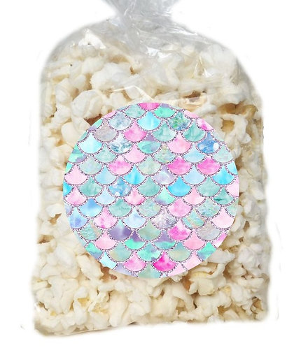 Mermaid Giveaways Clear Bags for Popcorn or Candies - 12 pcs set