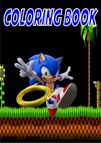 Sonic Game Small Coloring Book