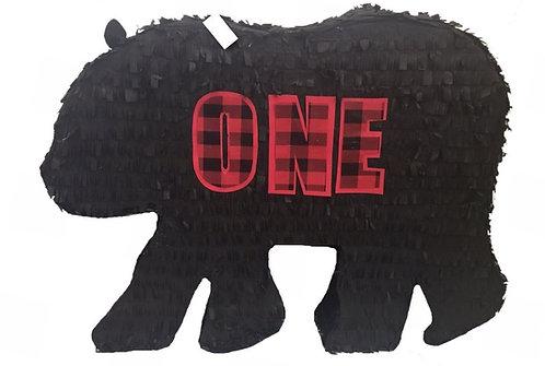 Bear Birthday Party Pull Strings Pinata -40 cm