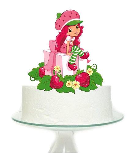 Strawberry Shortcake Big Topper for Cake - 1 pcs set