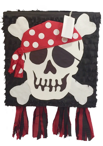 Pirate Birthday Party Pull Strings Pinata - 40cm